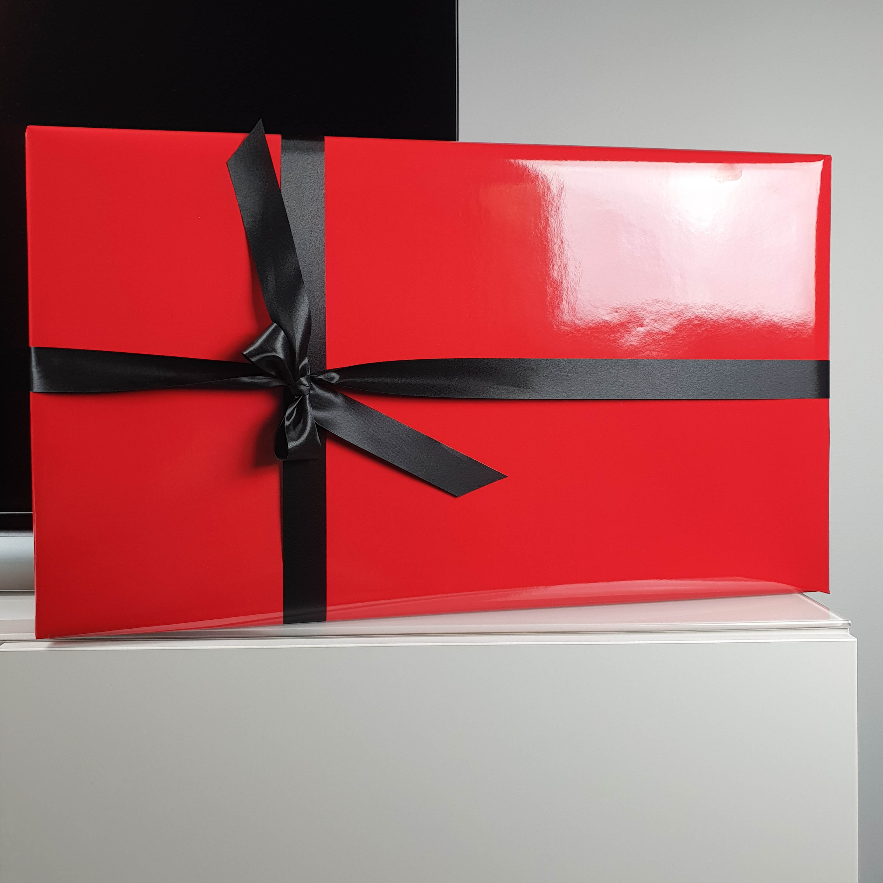 red gift wrapping